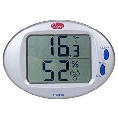 """Fasco Digital Temperature and Humidity Wall Thermometer 1/10 HP 5"""" Dia 1050 RPM 115 Volts"""